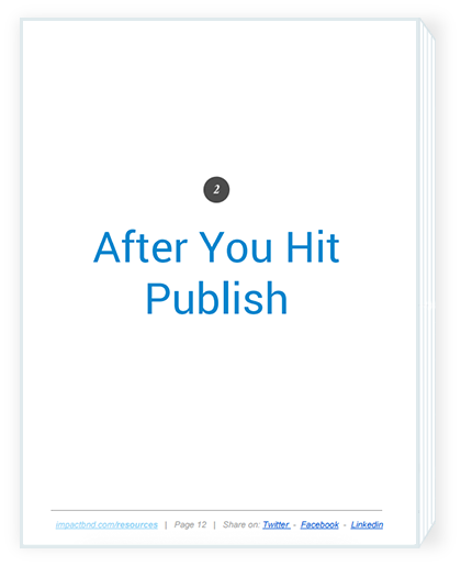 Increase Traffic Business Blog After Publish