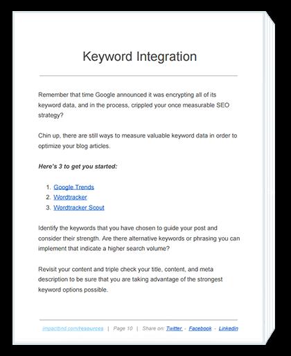 Increase Traffic Business Blog Keyword Integration