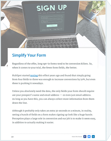 11 Tactics for 3x SaaS Trial Users Simplify Form